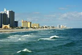 Typical winter in Daytona Beach, Florida, USA