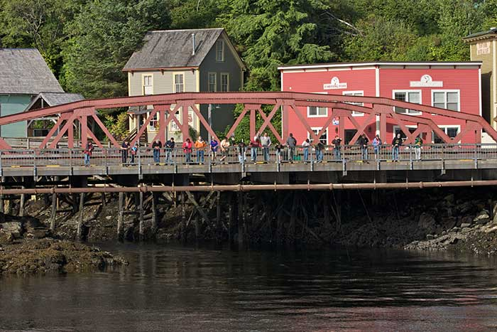 Ketchikan fishing - bridge in town